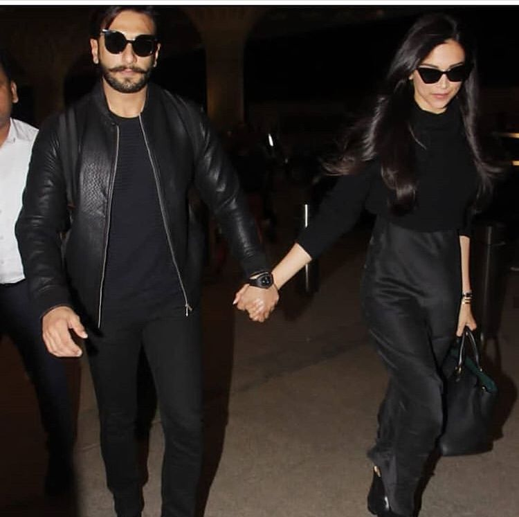 Deepika Padukone And Ranveer Singh Fly Off For Their Honeymoon From Mumbai Airport Hungryboo Deepika Padukone Style Ranveer Singh Deepika Padukone
