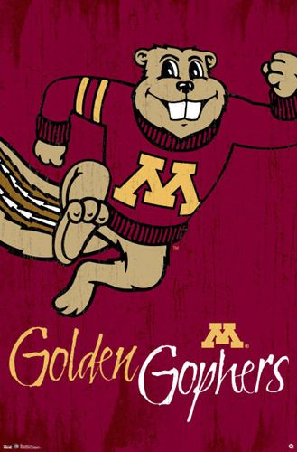 University Of Minnesota Golden Gophers Goldy Classic Official Ncaa Logo Poster Minnesota Golden Gophers Football University Of Minnesota Minnesota Golden Gophers