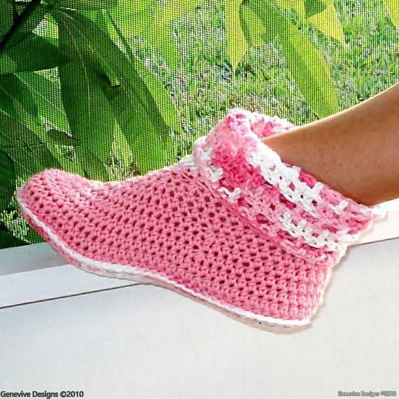 Instant Download - Crochet Pattern - Cuffed Boots for Adult and Kids ...