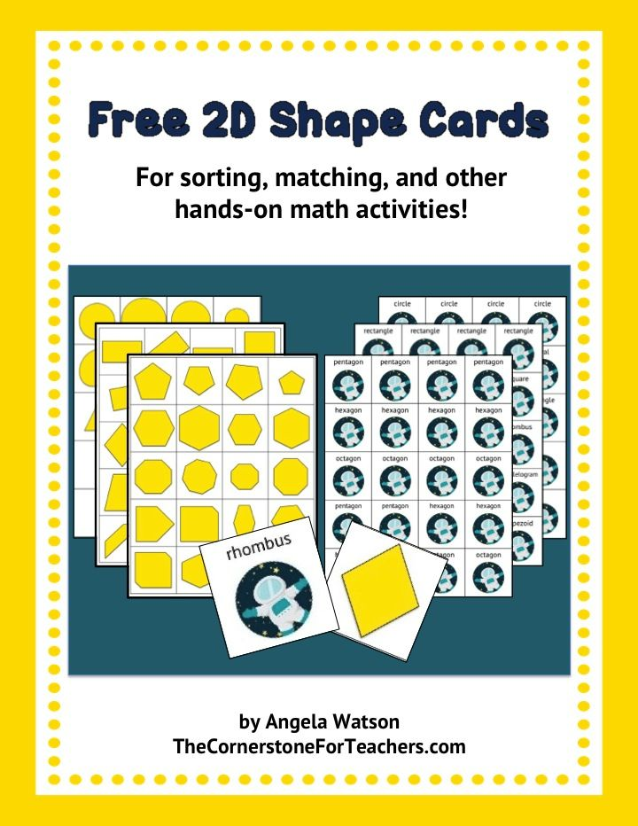 Geometry math partner games and a 2D shapes freebie