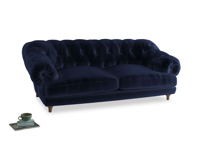 Large Bagsie Sofa In Midnight Plush Velvet