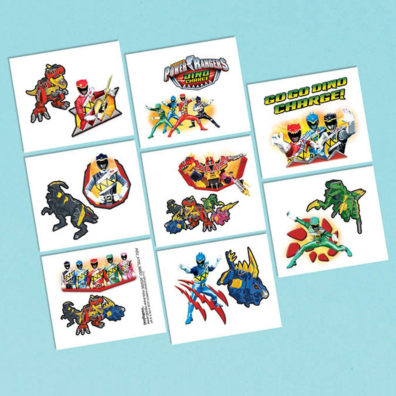 Power Rangers Dino Charge Tattoos - 16 Count | Tv's Toy Box