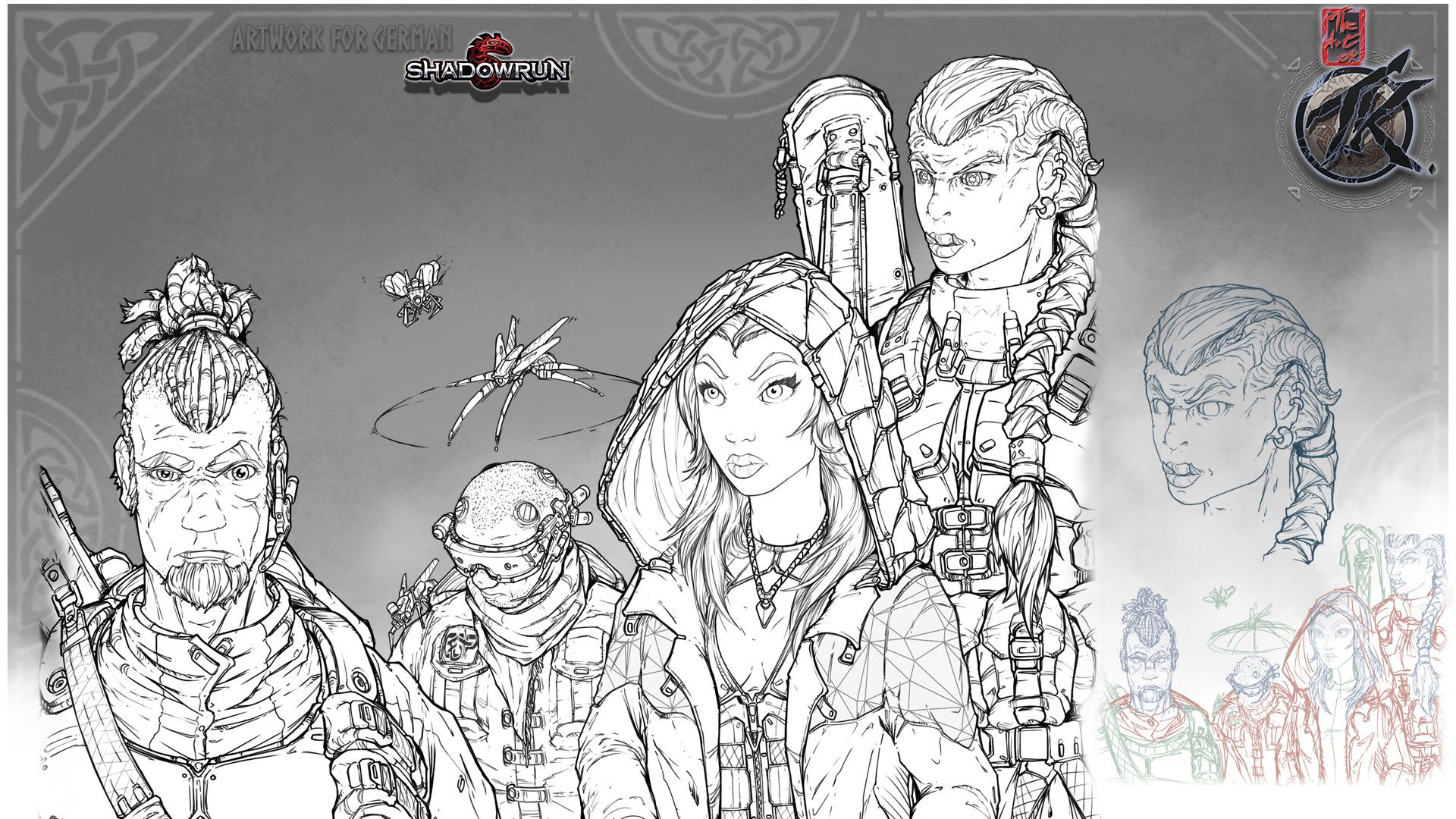 SHADOWRUN 5 [GER Edition] Runner Group (With images