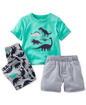 3d8223f2 Carter's Toddler Boys' 3-Piece Dino Pajamas #bigbabybasketsweeps ...