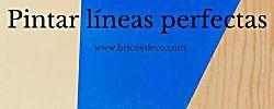 Truco para pintar líneas perfectas con cinta de carrocero