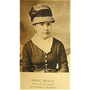 19th century police photo of Annie Reilly (alias Little Annie)  a Dishonest Servant