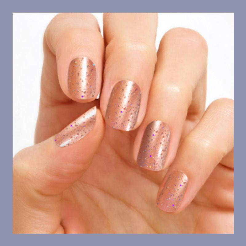 Christmas Acrylic Nails Grey: Color Street Singapore Chic Nail Polish Strips