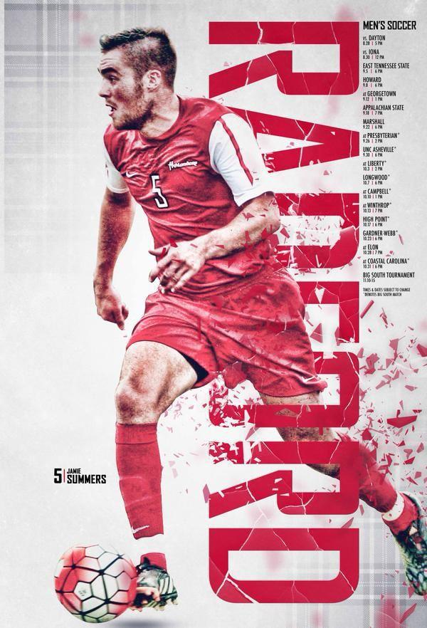 Posterswag Com Top 20 2015 Men S College Soccer Posters Sportsbiz Sport Poster Design Sports Design Soccer Poster