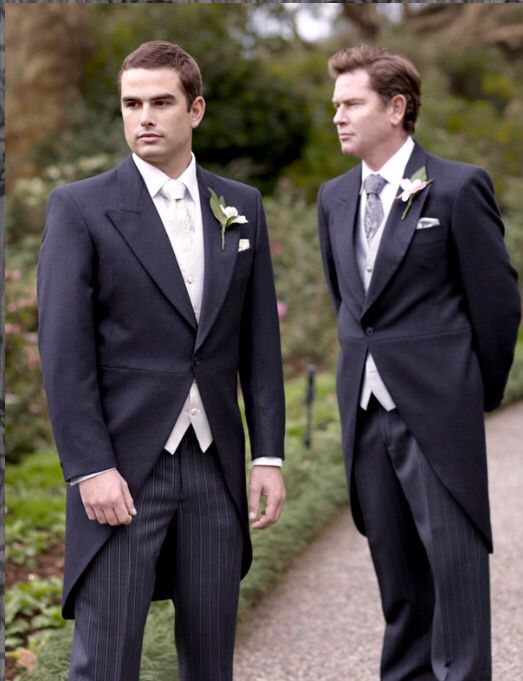 b03b45a4fe9 Charcoal morning suit. Morning tails. Striped pants. Daytime wedding.  Garden wedding. Vineyard wedding. Suit hire and sales. Men s wedding  fashion.