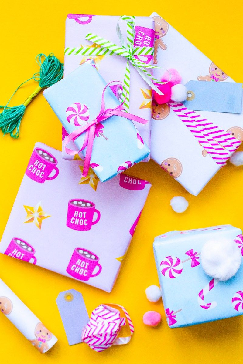 download the cutest free printable christmas gift wrap