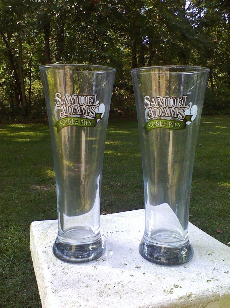 Samuel Adams Noble Pils Beer Glasses Brewed With 5 Noble Hops Pilsner