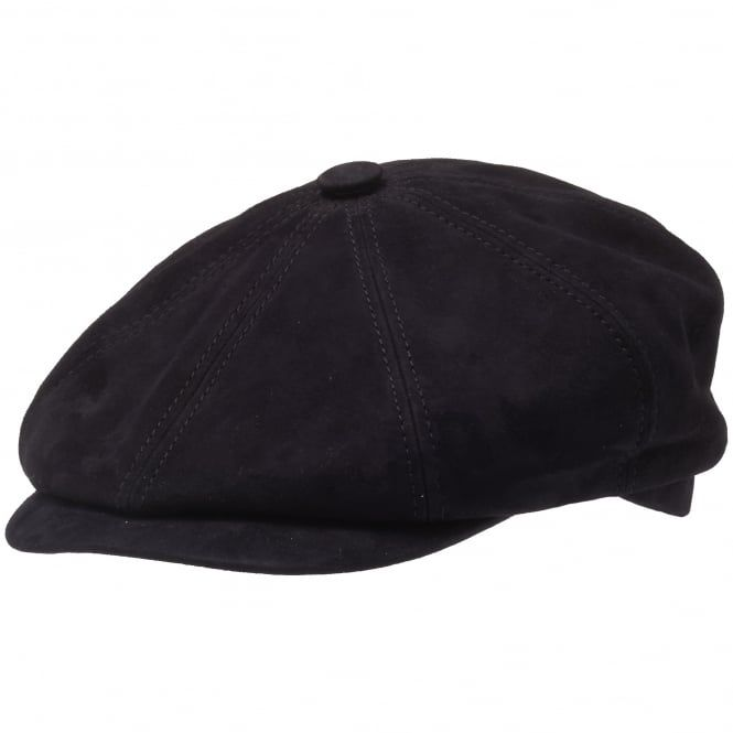 82770bffe173a Stetson - Goat Suede Flat Cap-Navy