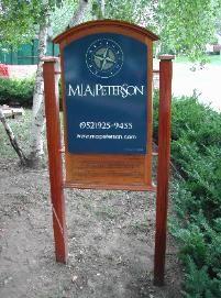 Custom Wood Yard Signs