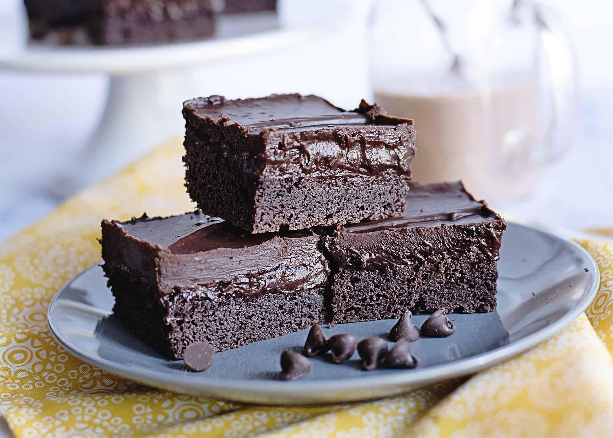 Three Layer Chocolate Fantasy Bars - Southern Plate -   14 desserts Bars restaurant ideas