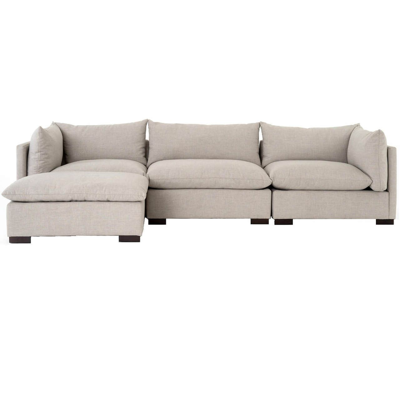 Pleasing Westworld Modern Beige 4 Piece Modular Lounge Sectional Sofa Creativecarmelina Interior Chair Design Creativecarmelinacom