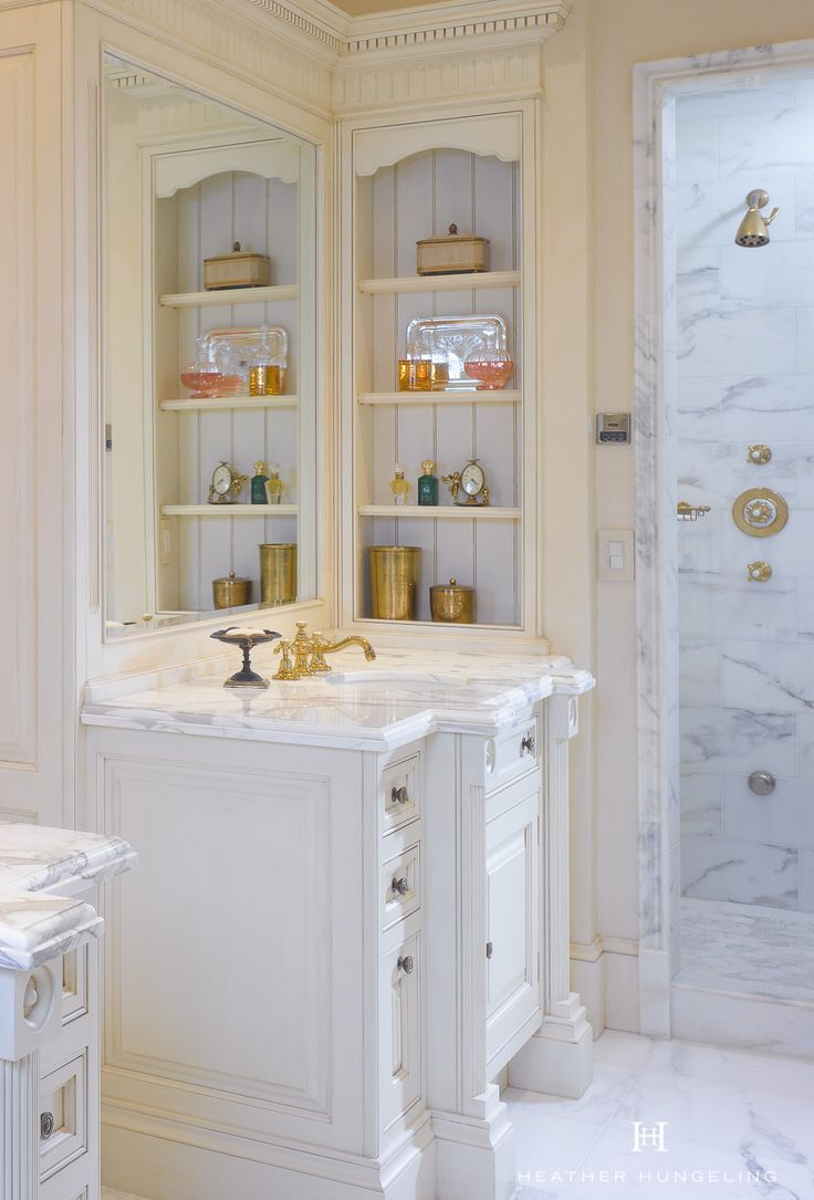 Clive Christian luxury bathroom in handpainted Antique Cream