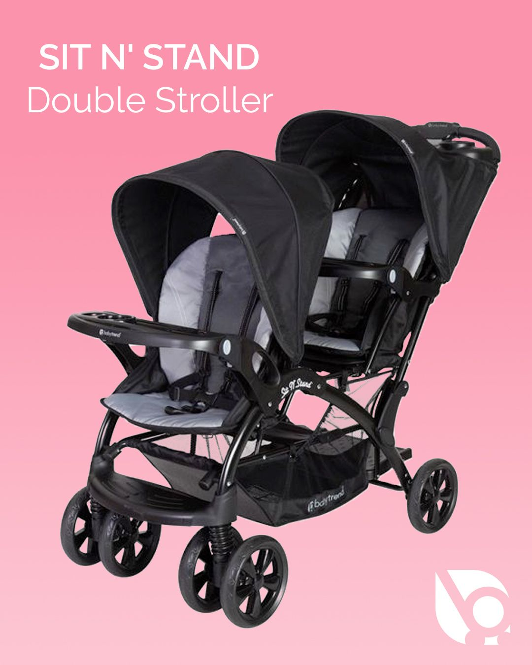 Baby Trend Sit N Stand Double Stroller Elixer Baby