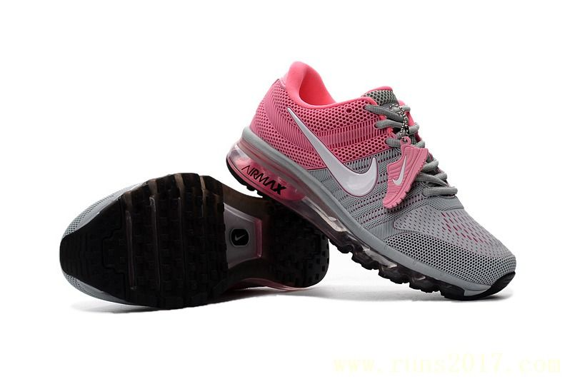 0fce631b929f Nike Air Max 2017 Women Grey Pink KPU Shoes