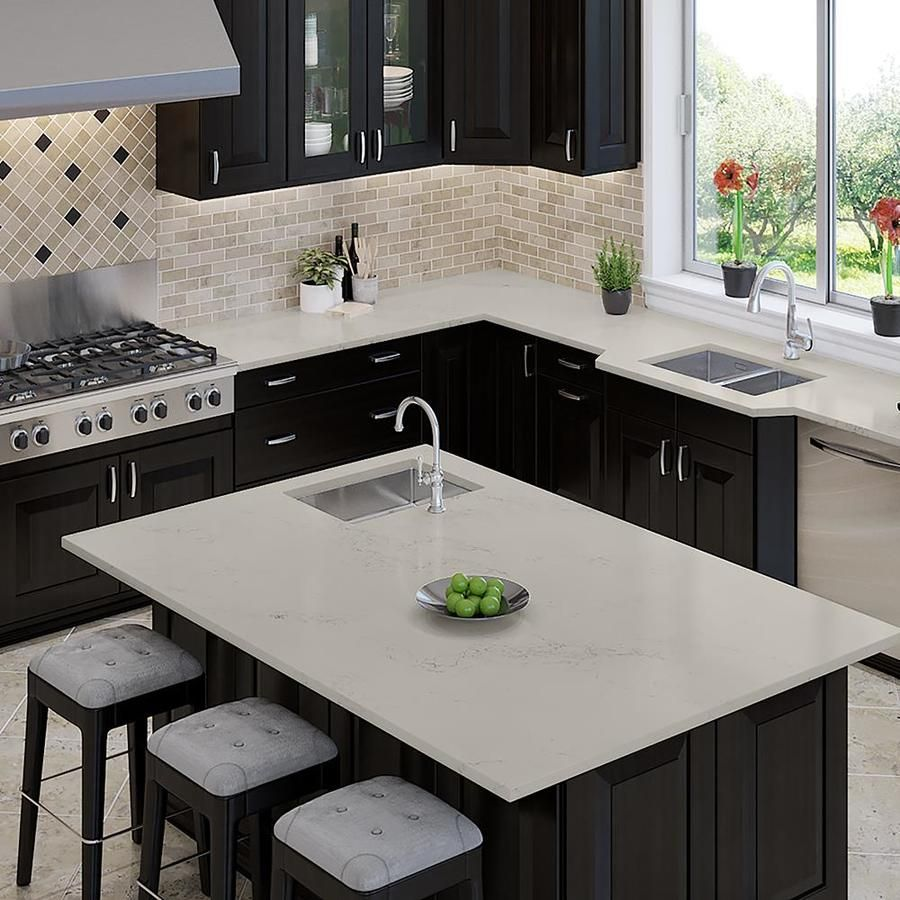 Allen Roth Peaceful Quartz Kitchen Countertop Sample Lowes Com