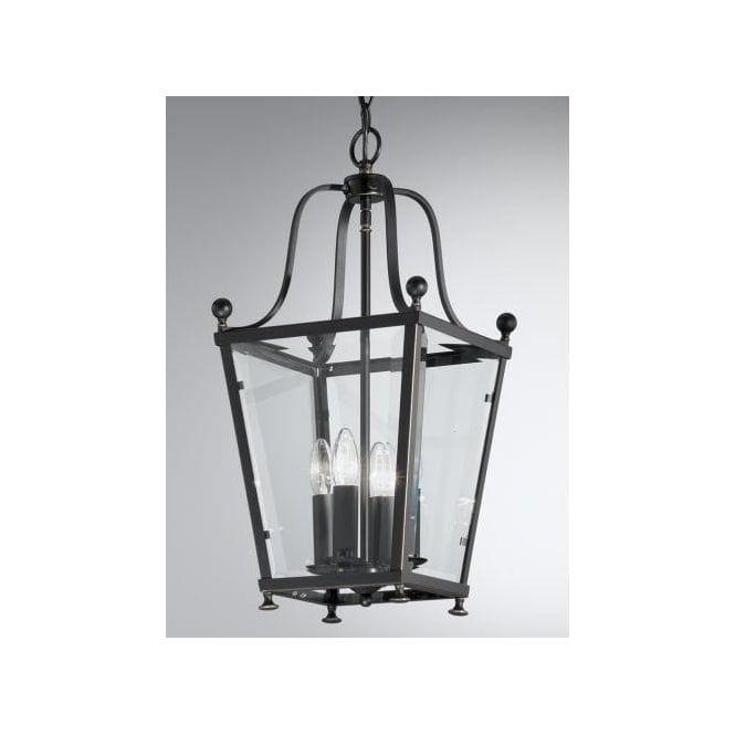 franklite atrio 4 light semi flush ceiling lantern in an antique