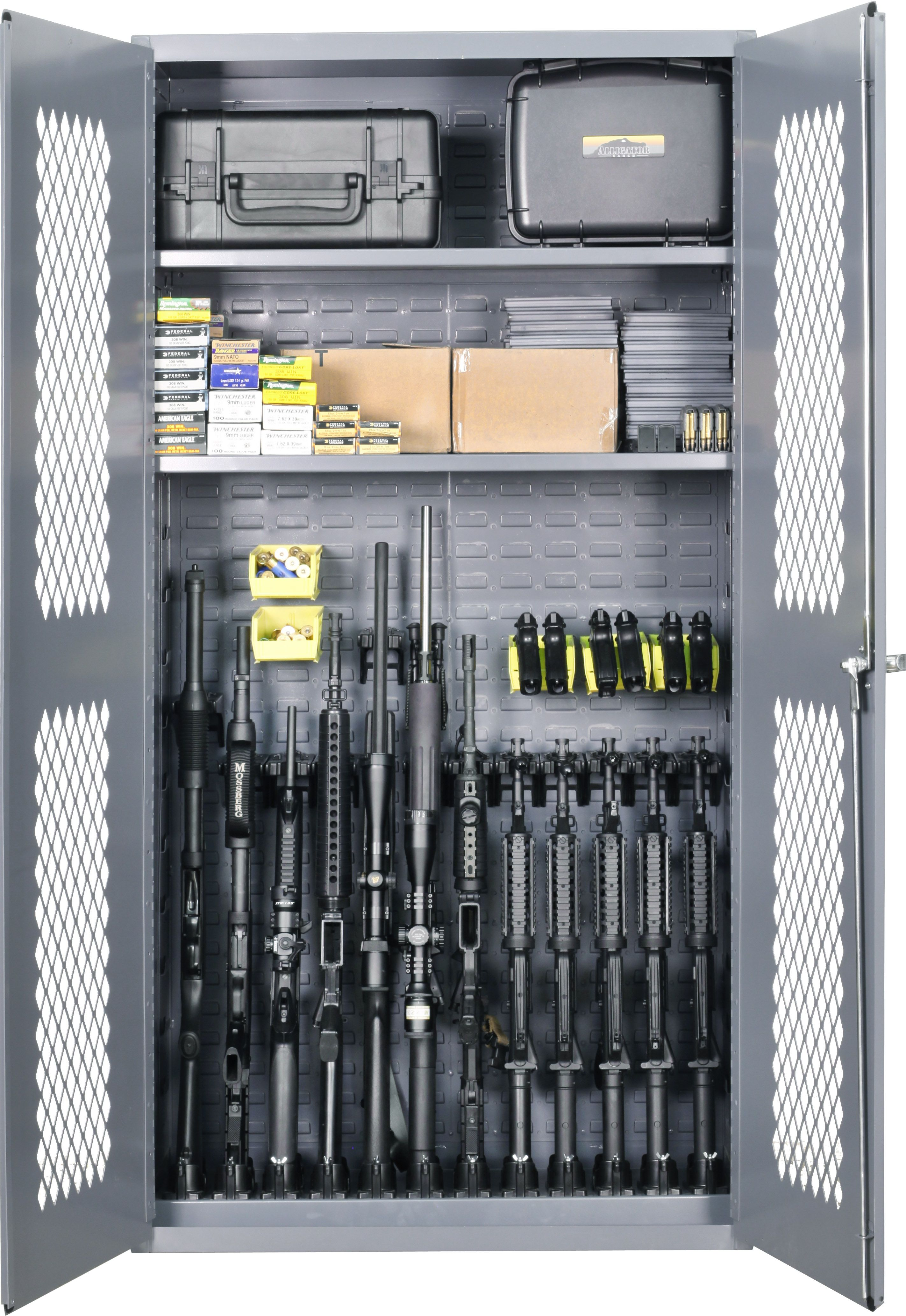 One weapon cabinet. Unlimited configurations. | Military Firearm ...