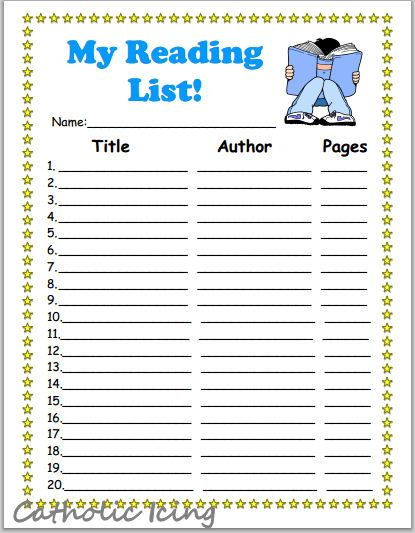 It is a picture of Reading Chart Printable within student