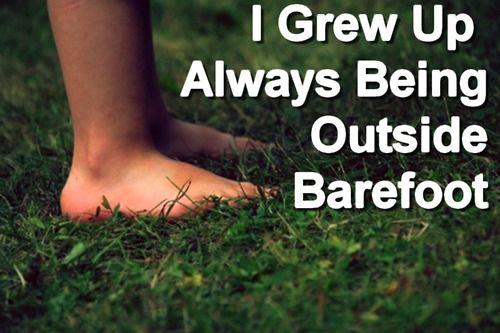 Runnin on gravel roads barefoot