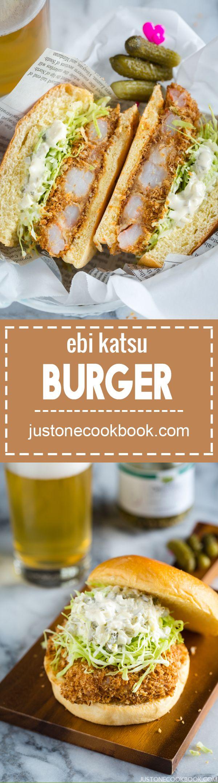 Ebi Katsu burger (Shrimp Katsu Burger)   Easy Japanese Recipes at JustOneCookbook.com