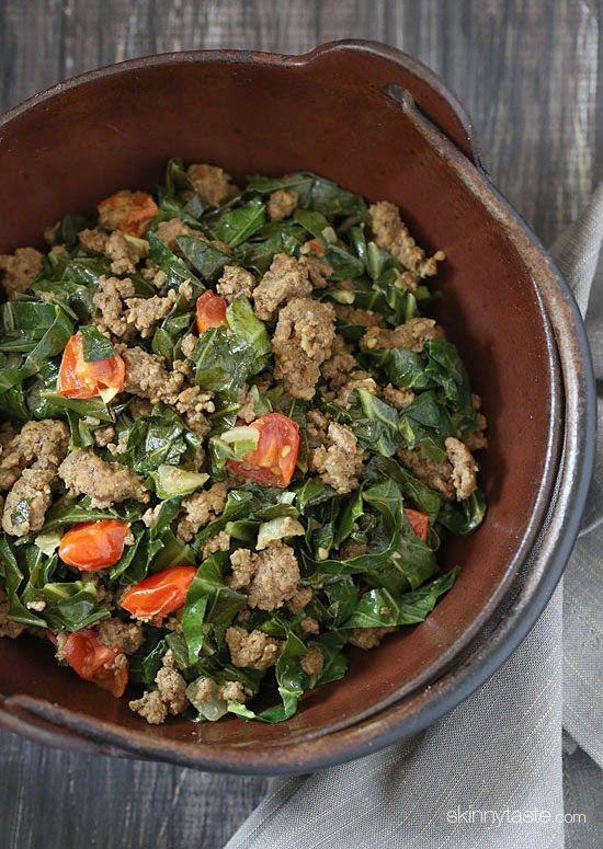 Kenyan Braised Collard Greens And Ground Beef Sukuma Wiki Recipe Recipes Collard Greens Beef Recipes