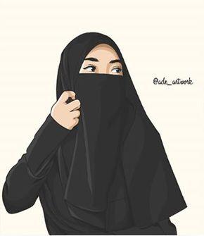 Gambar Kartun Muslimah Bercadar Cantik kartun dakwah dan