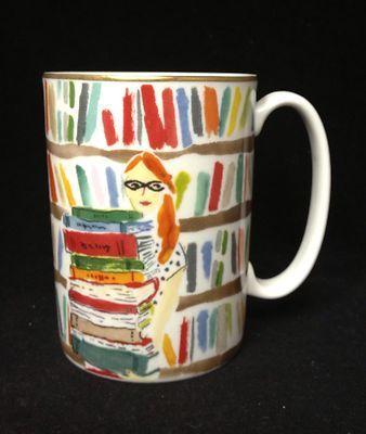 Kate Spade Lenox Illustrated Library Mug China Porcelain Librarian Books |  eBay