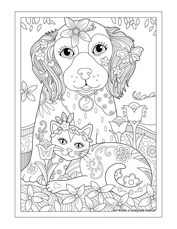 Marjorie Sarnat S Pampered Pets Dog Cat And Butterfly Razonoda