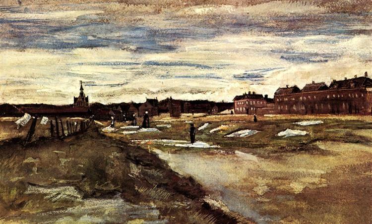 Bleaching Ground 1882 watercolor- Vincent van Gogh