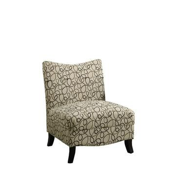 Monarch Tan Swirl Fabric Accent Chair I 8047 Home