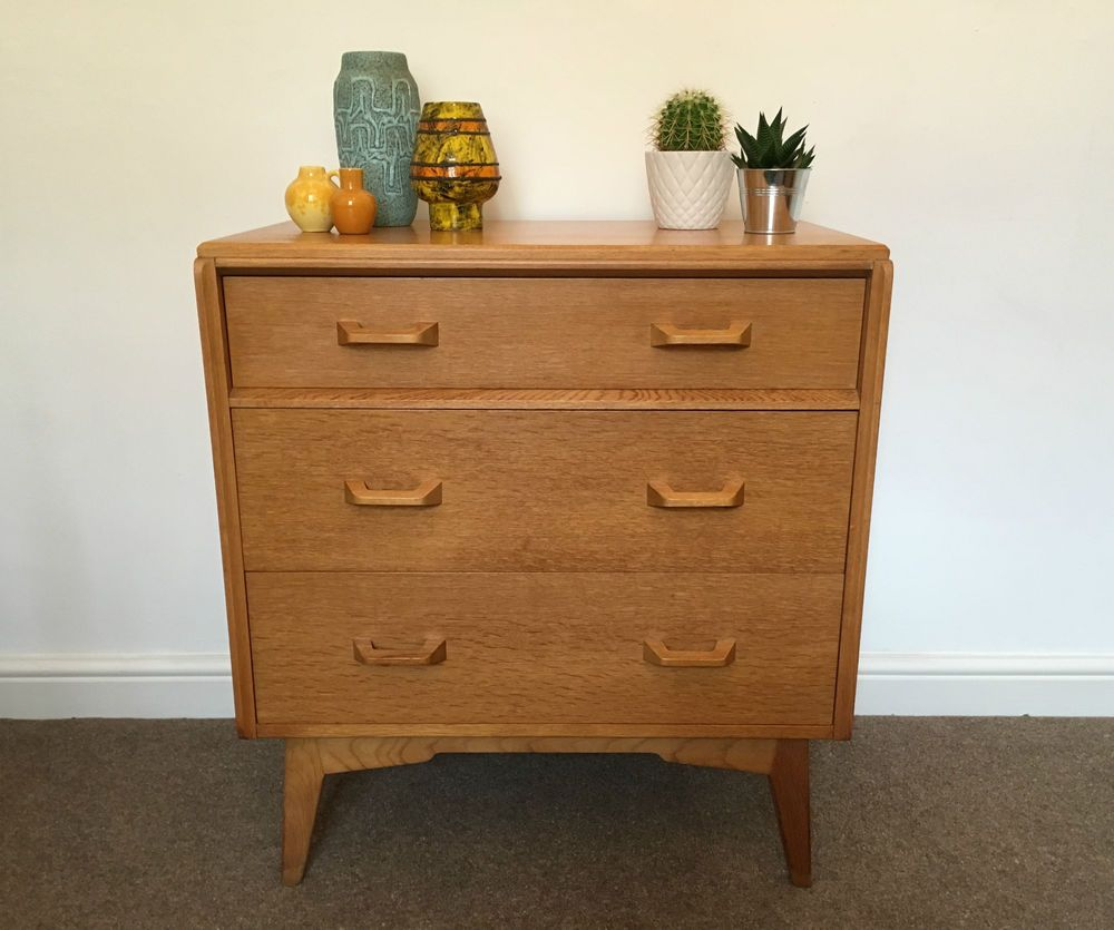 Vintage Retro Mid Century G Plan E Gomme Brandon Chest Of Drawers S S