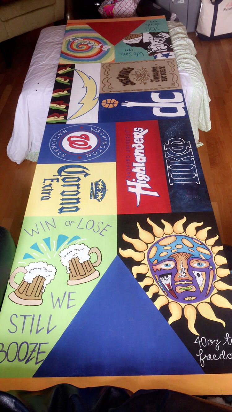 Homemade beer pong table - Hand Painted Beer Pong Table Bp Table Sublime Radford Beer Corona Washington Nationals Pi Kappa Phi