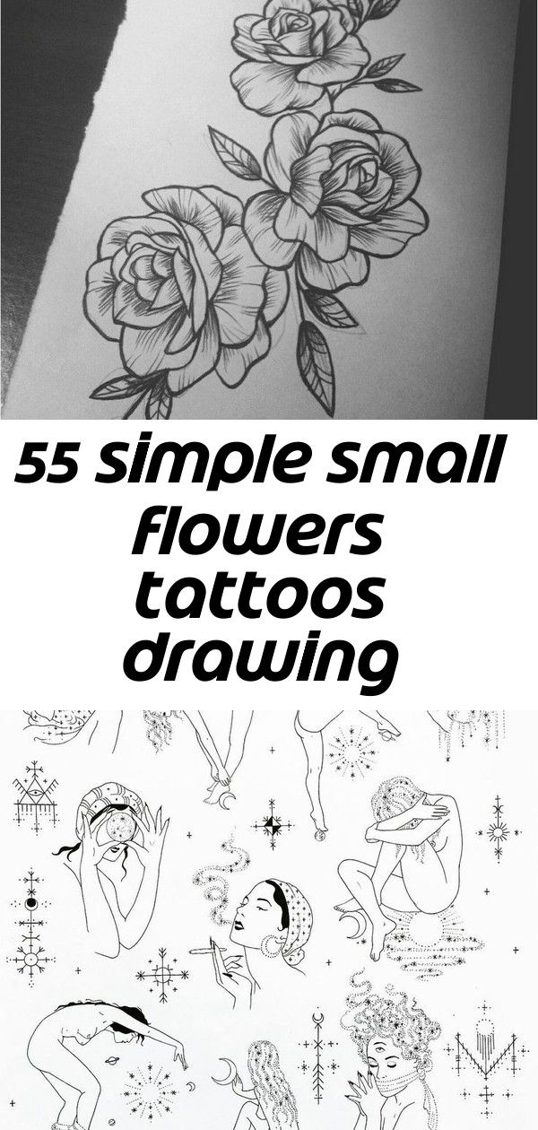 55 simple small flowers tattoos drawing tattoos ideas for women this season 13