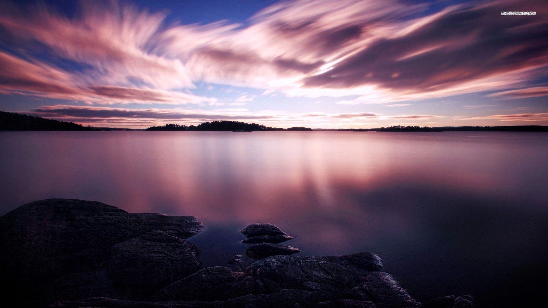 Calm Lake Calm Lake At Night Wallpaper Sunset Wallpaper Ipad Air Wallpaper Sunset