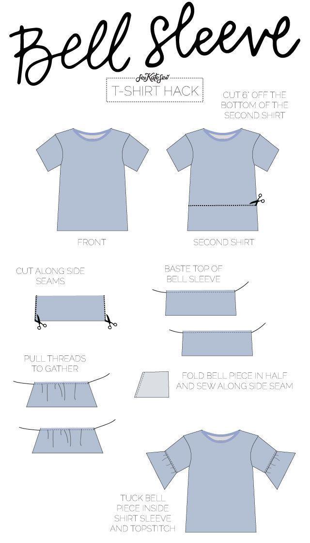 10 façons de refaire un t-shirt! - see kate sew BELL SLEEVE TEE