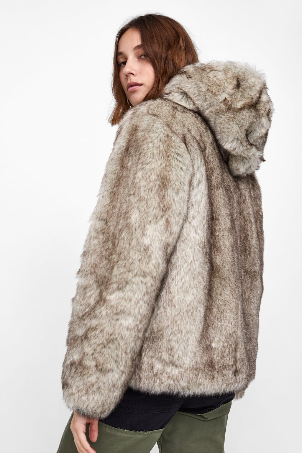 2717c16f74 Image 4 of FAUX FUR JACKET from Zara | Taschka Inspo | Faux fur ...