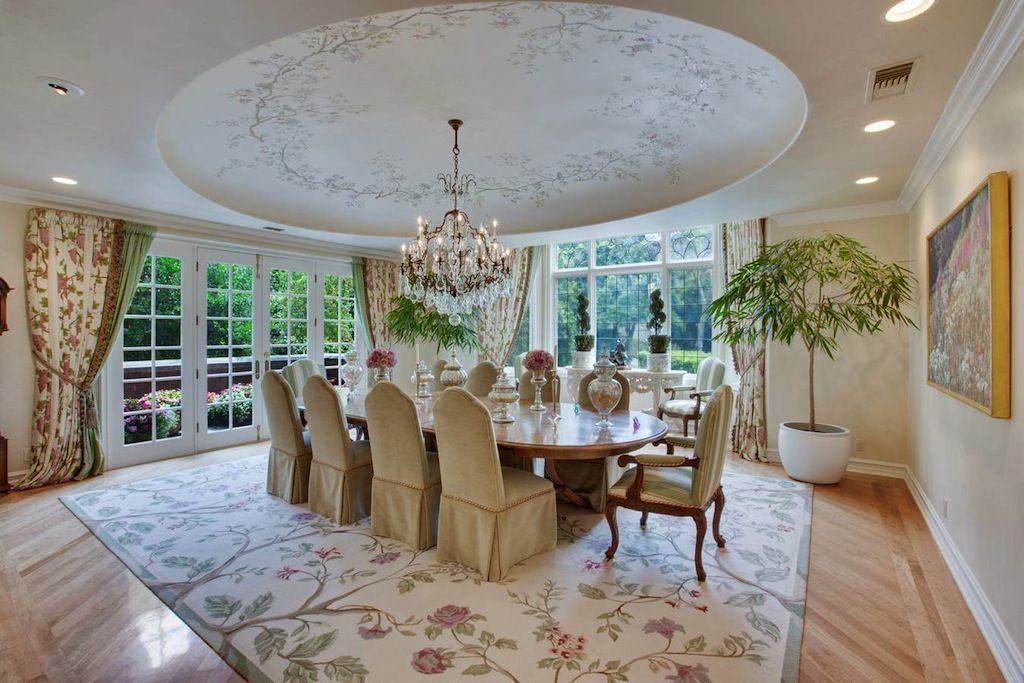 The Formal Dining Room Has A Hand Painted Dome Ceiling And French