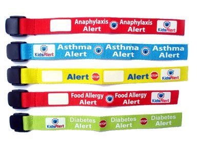 Kids Food Allergy Anaphylaxis Alert Wristbands Epipen Trainers Kits And Single Auto Injector Pouch Medical Bracelets