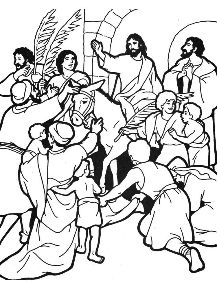 palm sunday childrens coloring pages. One week before