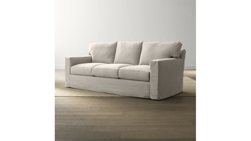 Axis Ii Slipcovered 3 Seat Sofa Crate And Barrel Sofa Stylish Sofa Bed Sleeper Sofa
