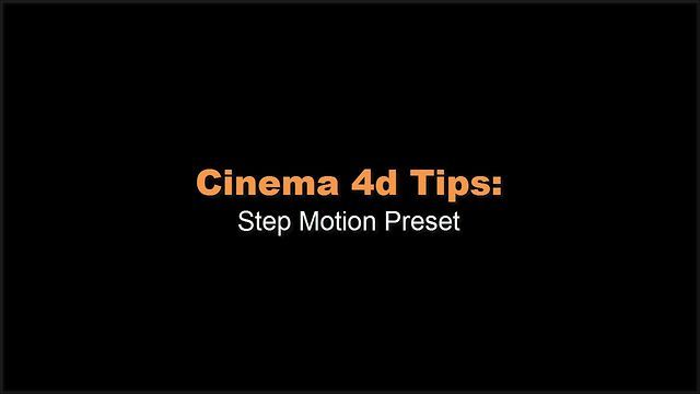 Step Motion Tutorial by Mike Udin. How to use most useful Xpresso preset Step Motion