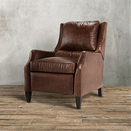 The Arhaus vintage-inspired Alex Leather Recliner In Old West Sandalwood features premium leather fitted & The Arhaus vintage-inspired Alex Leather Recliner In Old West ... islam-shia.org