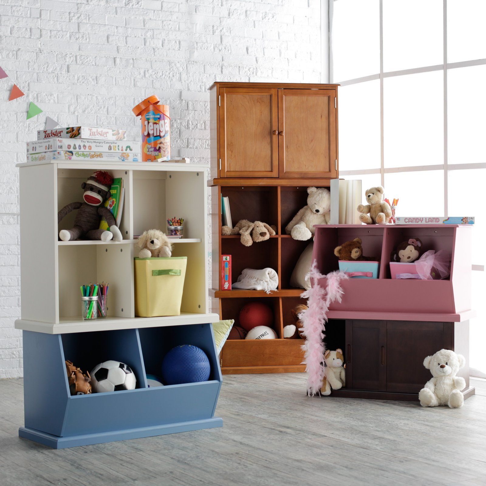 classic playtime stackable toy storage hayneedle