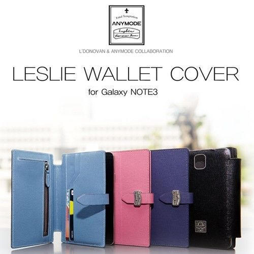 [Samsung Galaxy Note 3 Cases] Leslie Wallet cover / Genuine / Gift!! #SamsungGalaxyNote3Cases