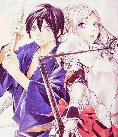 Noragami - Bishamon and Yato