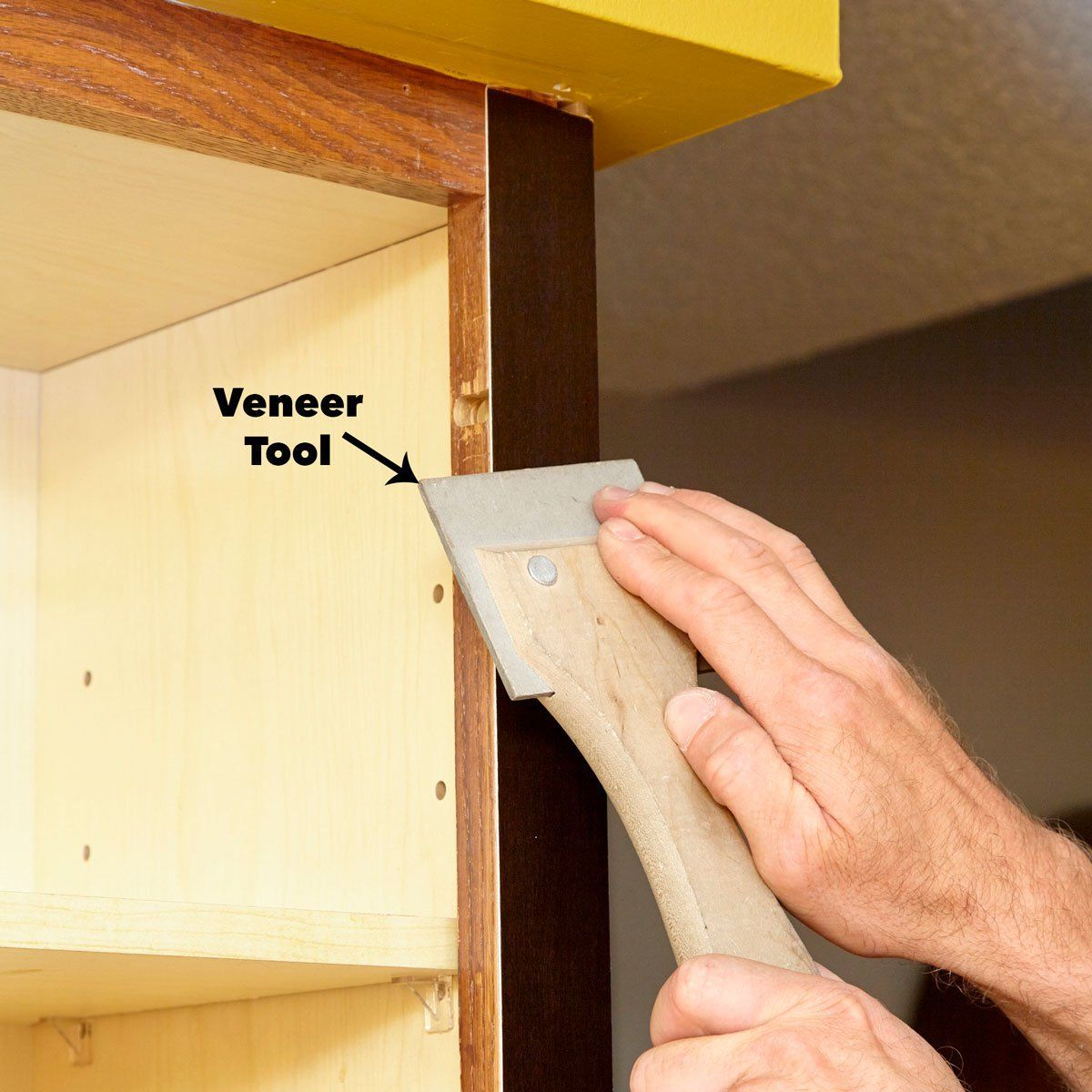 press the veneer cabinet door refacing veneer kitchen ...